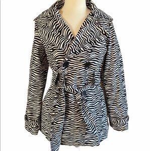 Madmodele Zebra print women's coat medium
